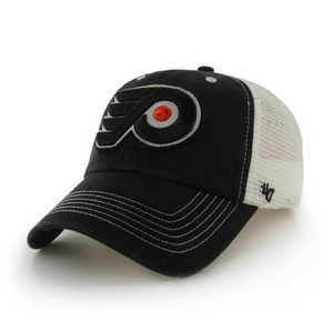 Philadelphia Flyers Black Stretch Closer cap