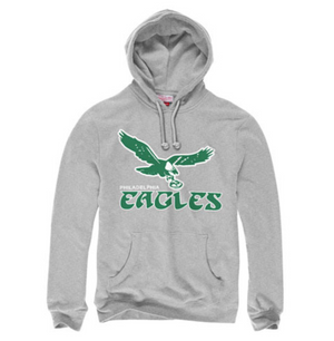 Philadelphia Eagles 1960s Logo Grey Pullover Hoodie