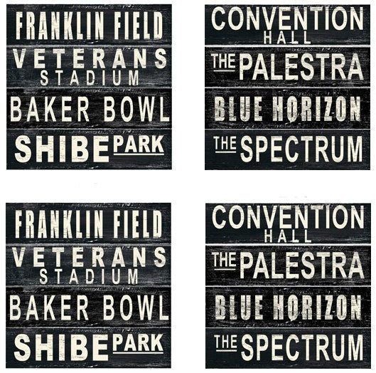 Vintage Philly Stadium Drink Coasters