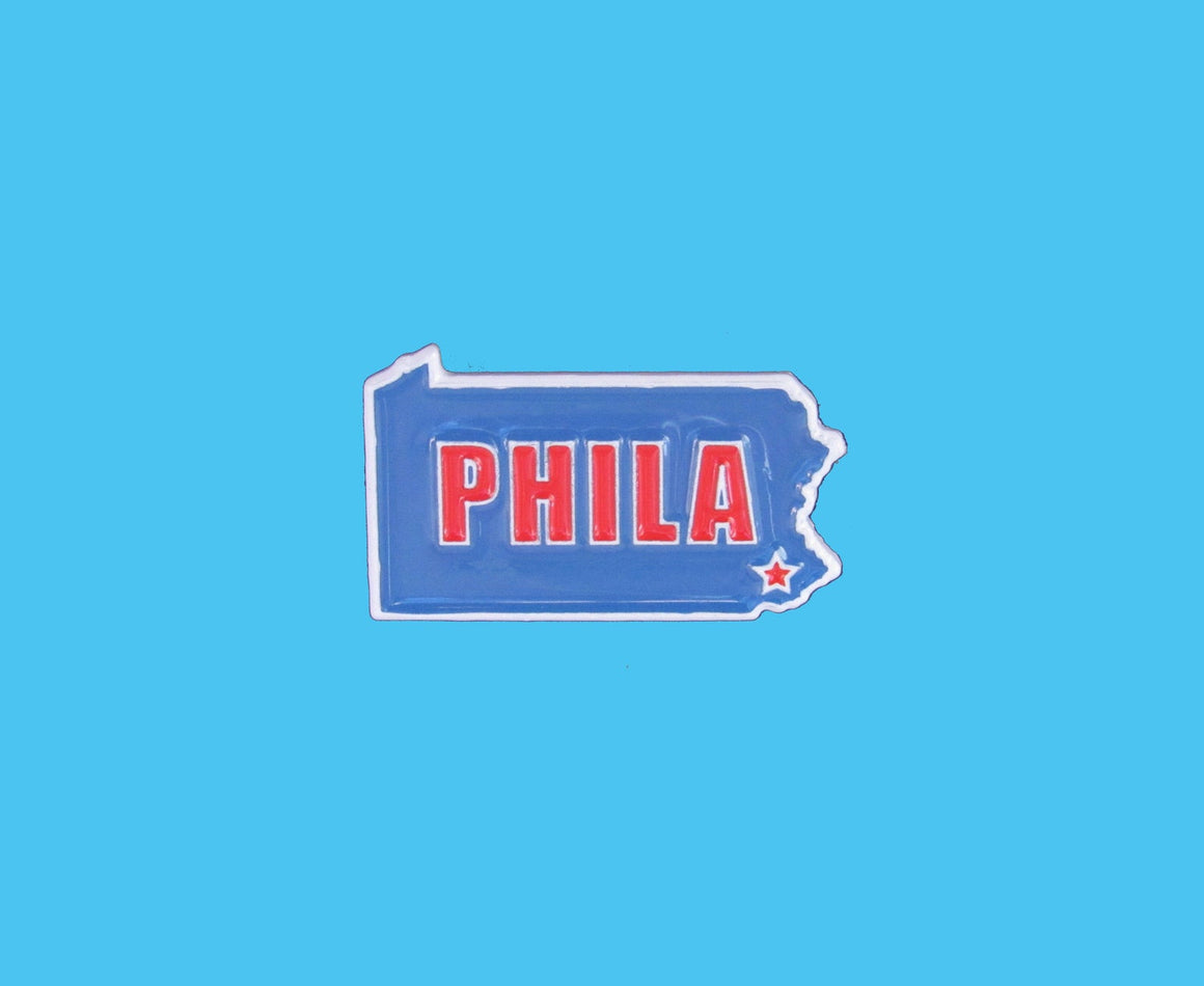 "Philadelphia ""PHILA"" State Lapel Pin"