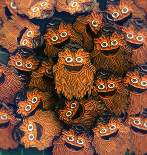 Gritty Googly Eye pin