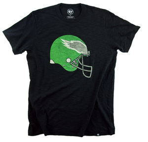 Philadelphia Eagles Vintage Helmet Black T-shirt