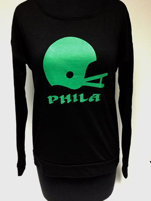 Philadelphia Eagles Helmet  women's long sleeve