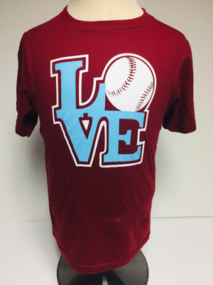 LOVE Baseball Youth T-Shirt