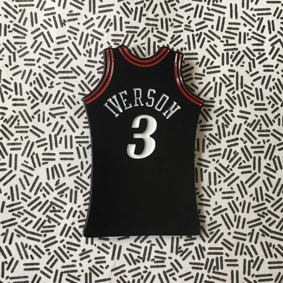Iverson jersey pin