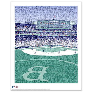 2013 Boston Red Sox Road to the World Series by Philly Word Art