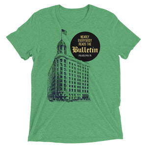 Philadelphia Bulletin Building Green t-shirt