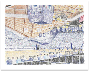Villanova University Pavilion - 2018 National Champions Print