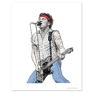 "Bruce Springsteen ""Born to Run"" Print by Philly Word Art"