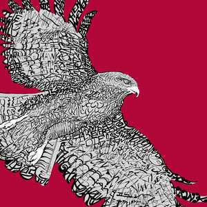 St. Joseph's University Hawk Print by Philly Word Art
