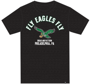 Philadelphia Eagles Fly Eagles Fly Black T-shirt