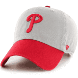 "Philadelphia Phillies ""Clean Up"" Adjustable Vintage 2-Tone gray cap"