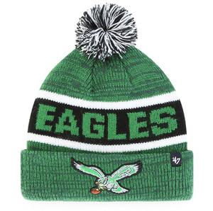 Philadelphia Eagles Kelly Green Tadpole Cuff Knit Youth