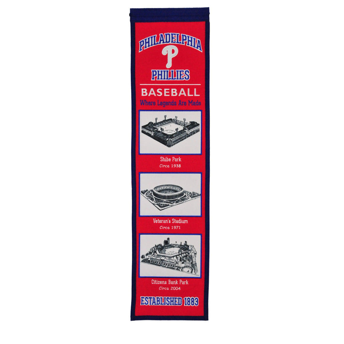 Philadelphia Phillies Stadium Evolution Heritage Banner