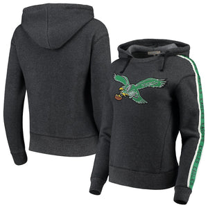 Philadelphia Eagles True Black Fleece Women's Hooded Sweatshirt