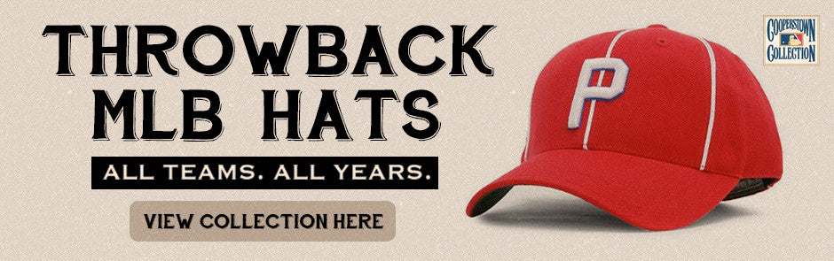 Throwback MLB hats
