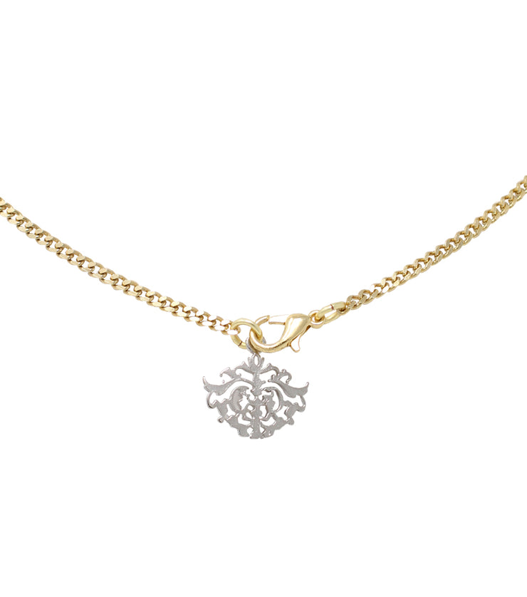Necklace with mini star lock gold finish