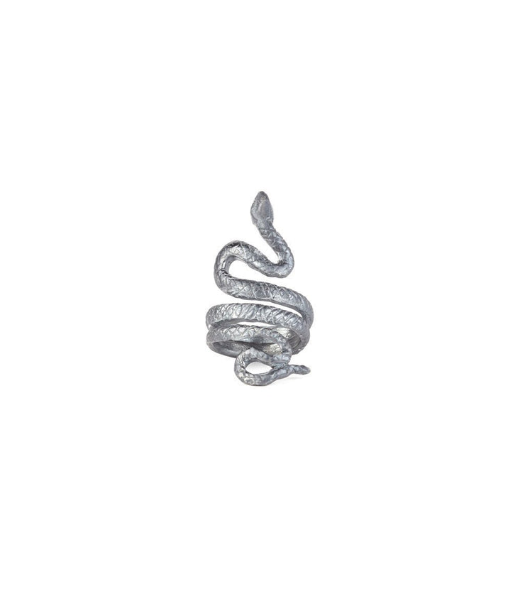 Antique Silver Pinky Finger Snake Ring - Laura Cantu Jewelry - Mx