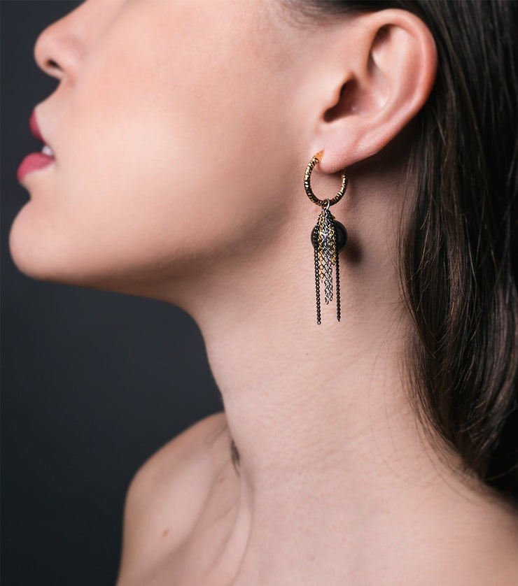 Catalina earrings - gray - Laura Cantu Jewelry - Mx