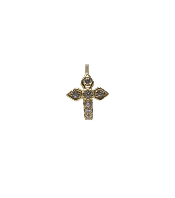 Gold Gothic Cross Piercing - Laura Cantu Jewelry - Mx