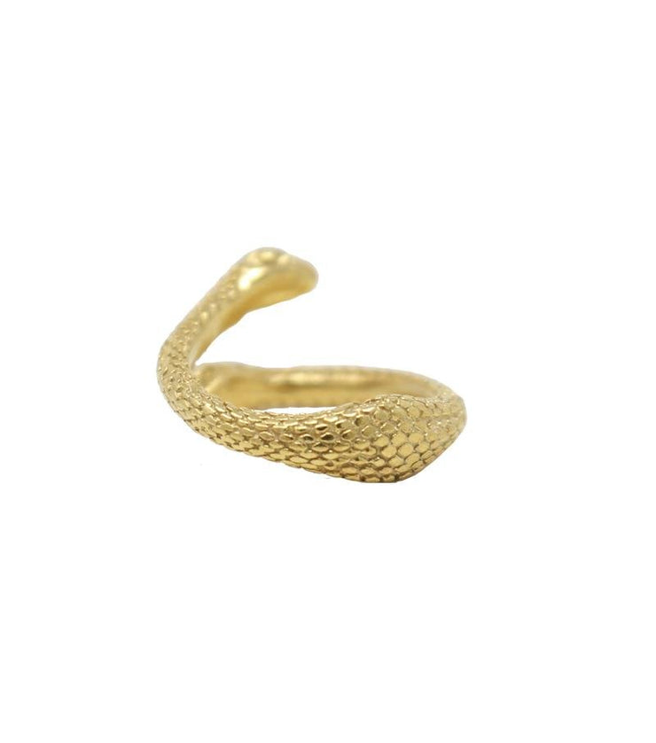 Gold Mid Finger Double Snake Ring - Laura Cantu Jewelry - Mx