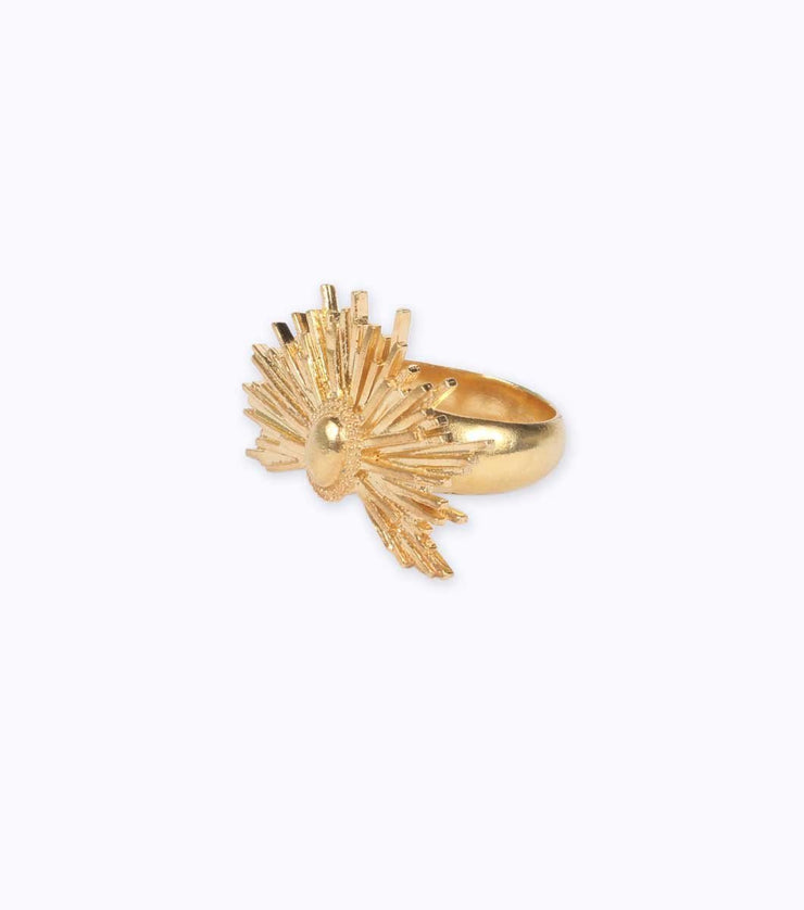 Gold Plated Silver Sun Ring - Laura Cantu Jewelry - Mx