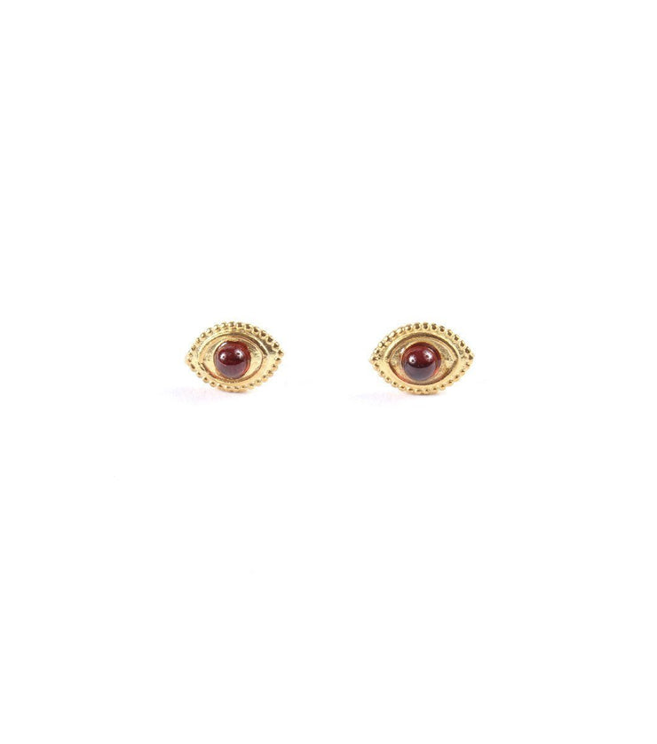 Goldplated eyes earrings - Laura Cantu Jewelry - Mx