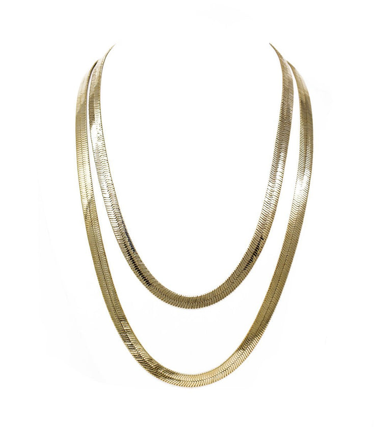 Goldplated flat chains - Laura Cantu Jewelry - Mx