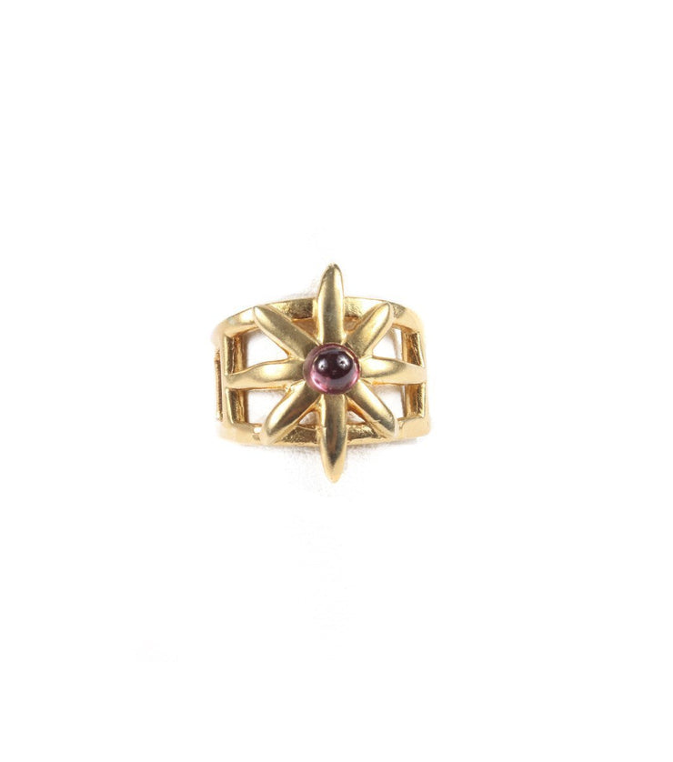 Goldplated star ring - Laura Cantu Jewelry - Mx