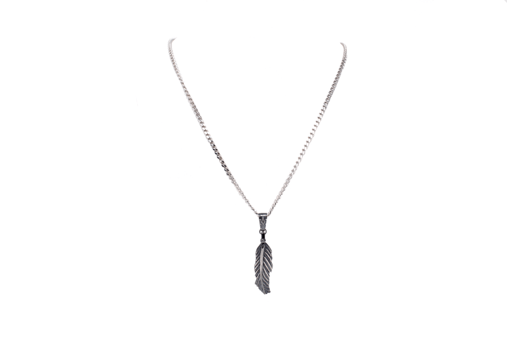Large Feather Necklace - Laura Cantu Jewelry - Mx