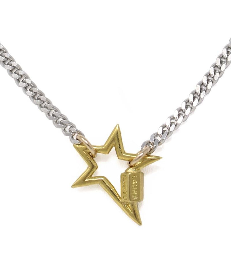 Necklace with mini star lock - Laura Cantu Jewelry - Mx