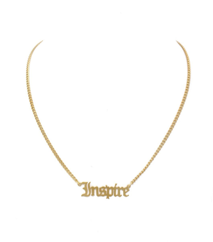 One Self reminder Inspire necklace - Laura Cantu Jewelry - Mx