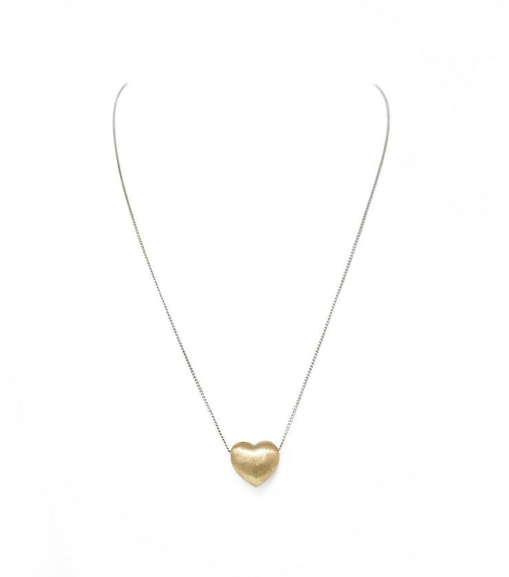 Puffy heart necklace - Laura Cantu Jewelry - Mx
