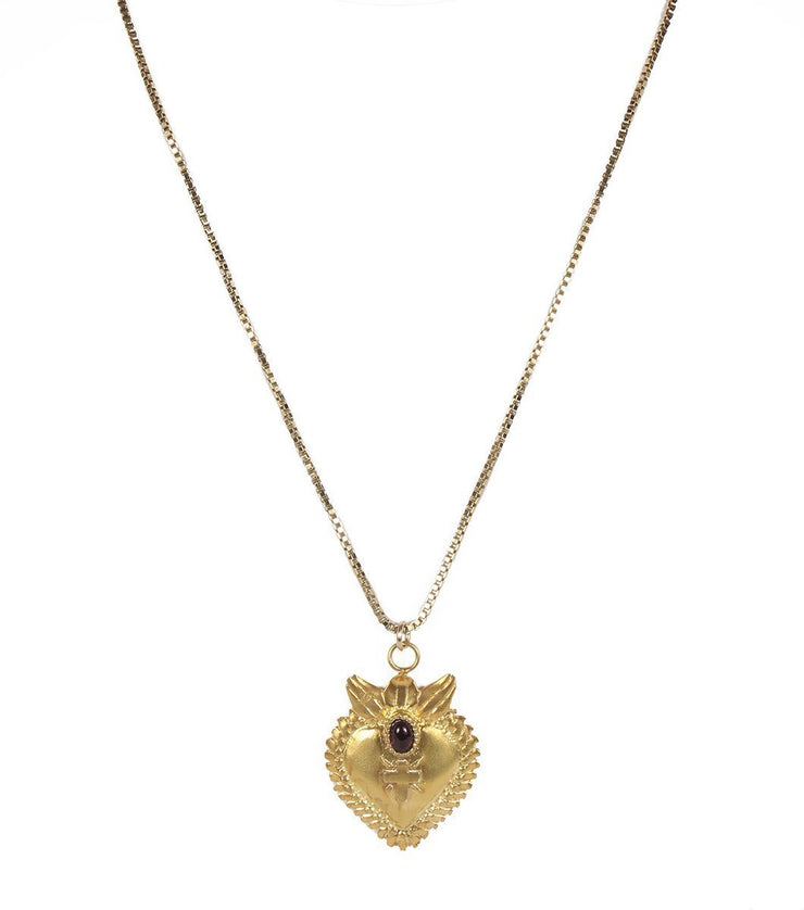 Sacred Heart necklace - Laura Cantu Jewelry - Mx