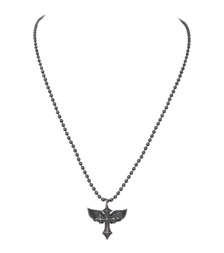SantOsaint cross and wings necklace - Laura Cantu Jewelry - Mx