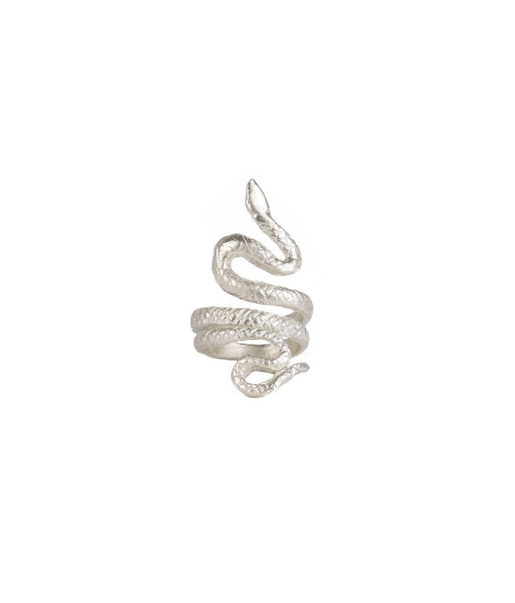 Silver Pinky Finger Snake Ring - Laura Cantu Jewelry - Mx