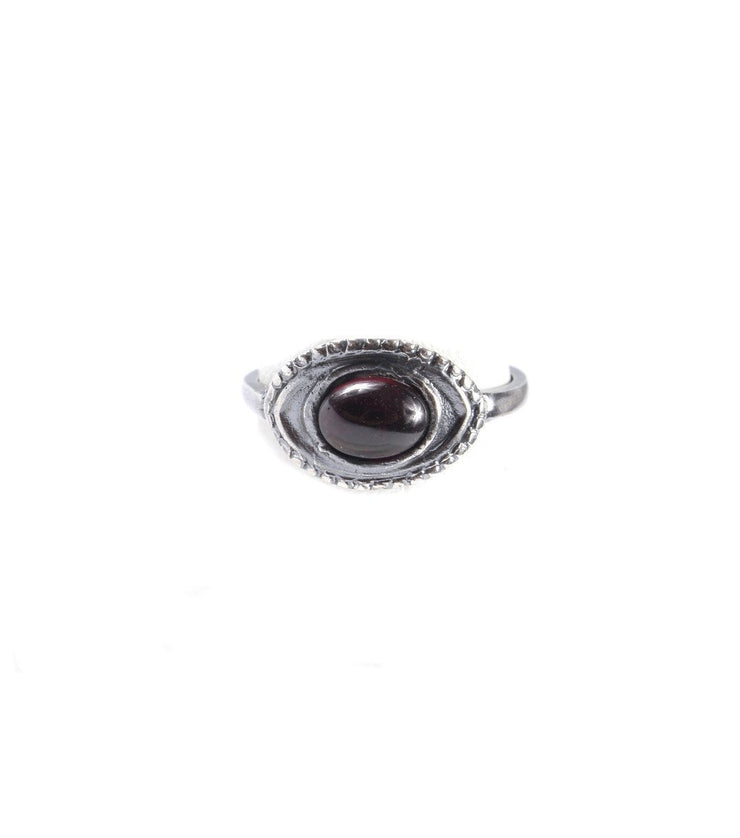 Silver small eye ring - Laura Cantu Jewelry - Mx