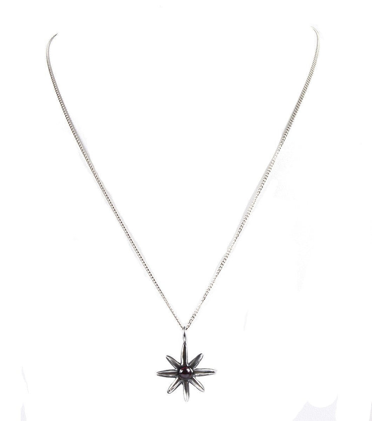 Silver star necklace - Laura Cantu Jewelry - Mx