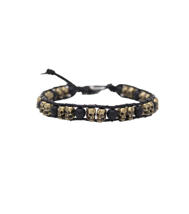 Skull and onyx bracelet - Laura Cantu Jewelry - Mx