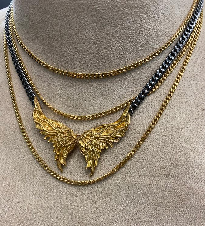 Wings goldplated necklace - Laura Cantu Jewelry - Mx
