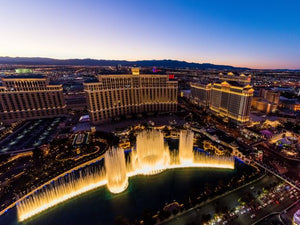 Beautiful Evening View Bellagio Las Vegas
