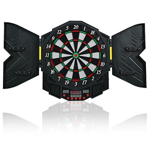 Goplus Professional Electronic Dart Board Cabinet Set Dartboard Game Room LED Display w/12 Darts