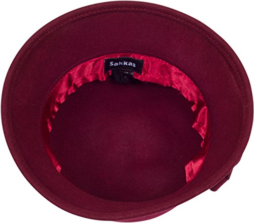 38f9a4388 Sakkas 20M Molly Vintage Style Wool Cloche Hat - Burgundy - One Size