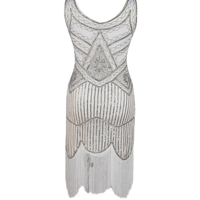 ... CFYH 2018 Newest Women s 1920s Vintage Sequin Full Fringed Deco  Inspired Flapper Dress Roaring 20s Great ... 8dd4a4602be7