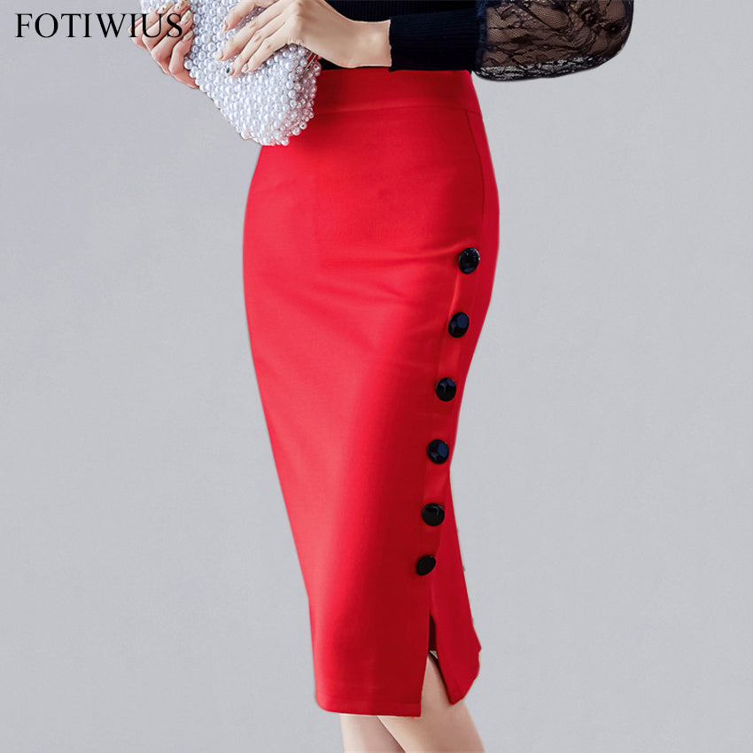 b34f876b45 S-5XL Plus Size Bodycon Skirts Womens High Waist Pencil Skirt 2018 Spring Ladies  Office ...