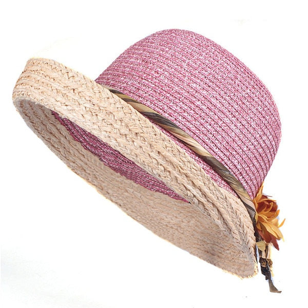 6a11e240e ... Xthree Good quality Summer hat women Raffia straw cap Ladies Big brim  Sun hat hat forgirlbeach ...