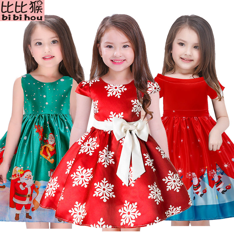 Toddler Christmas Dress.Girls Christmas Dress Kids Snow Dresses For Girls Princess Dress Baby Toddler Christmas Dress Girl Clothes Vestidos Robe Fille