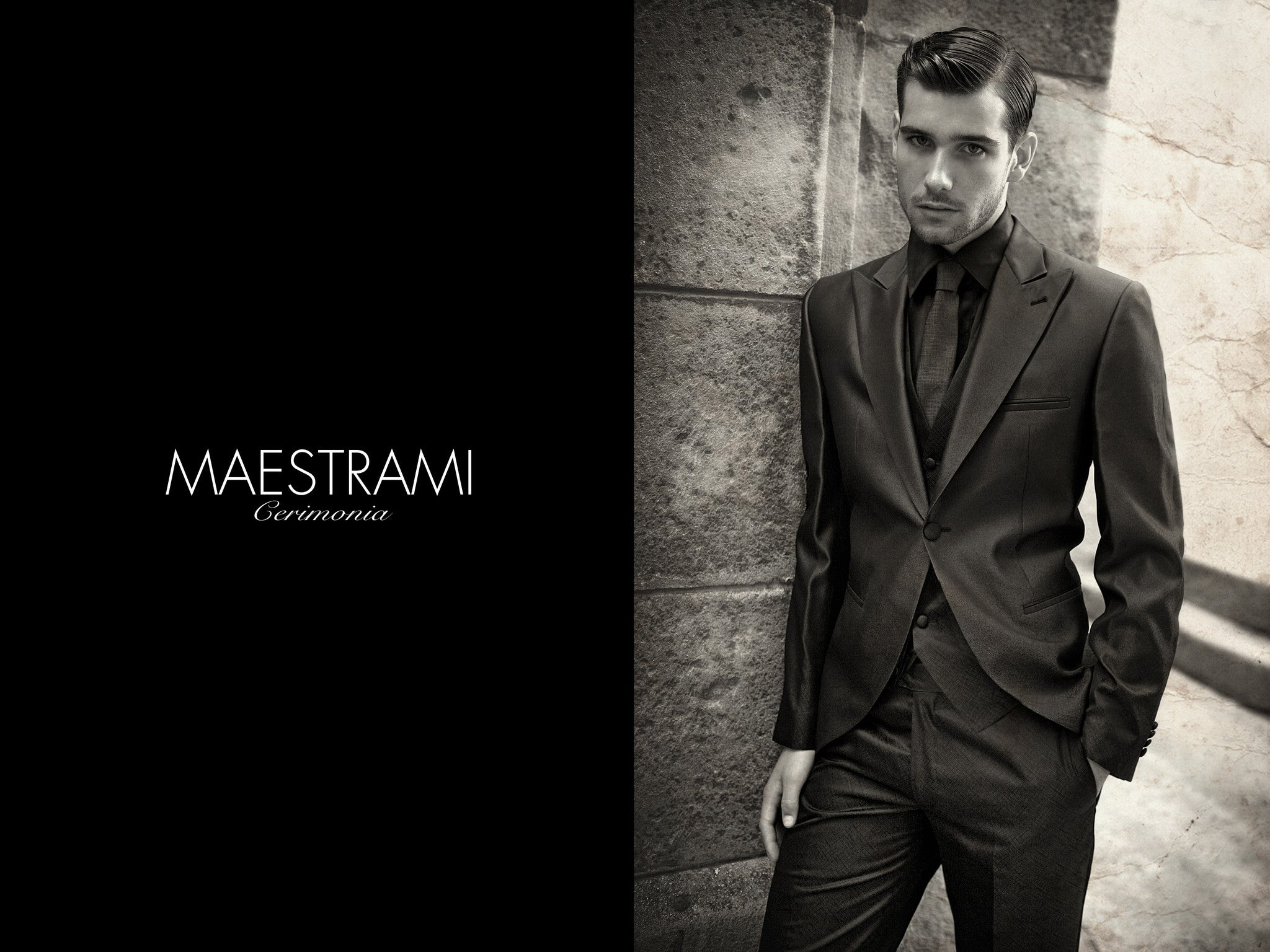 MAESTRAMI Custom Made Ceremonia Italian Suit 1352