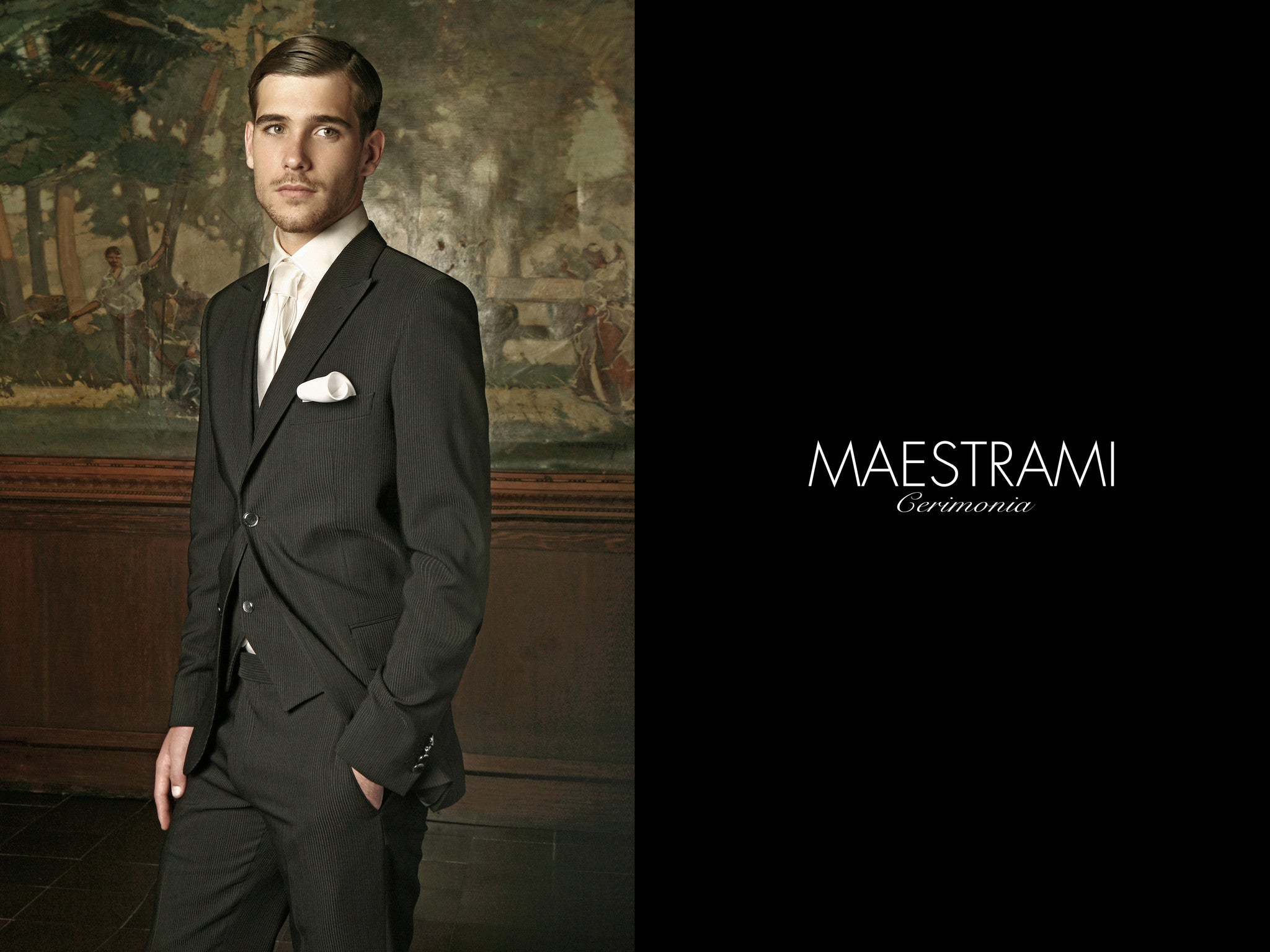 MAESTRAMI Custom Made Ceremonia Italian Suit 1360