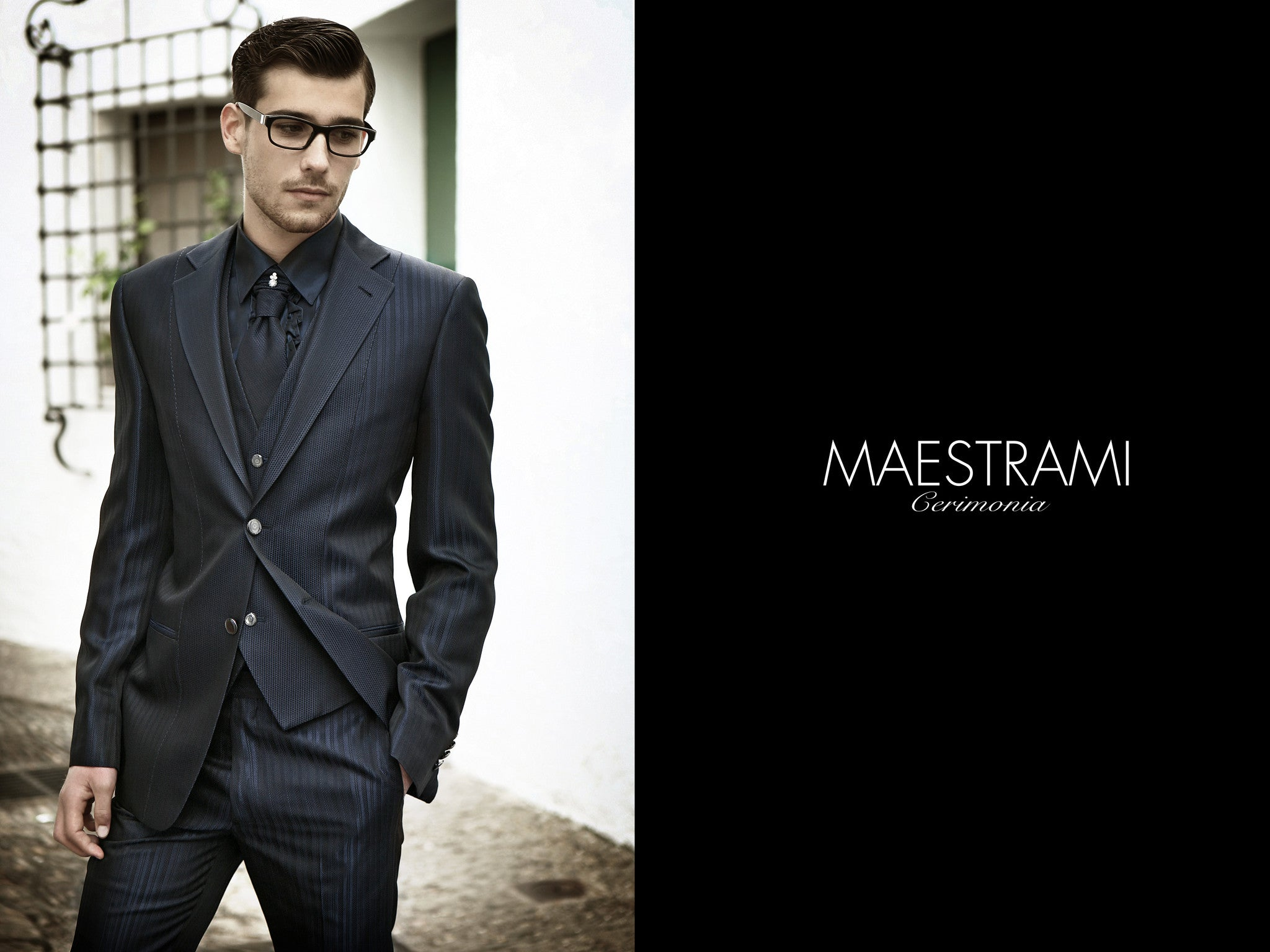 MAESTRAMI Custom Made Ceremonia Italian Suit 1366